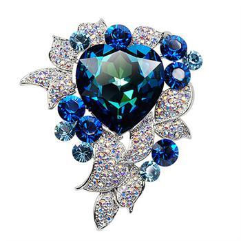 R.A luxury crystal brooch 500377