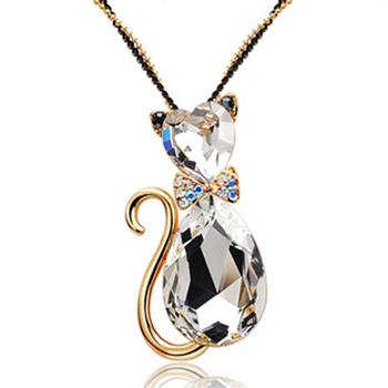 Allencoco crystal long necklace 60017036
