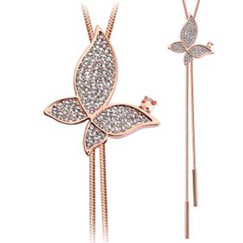 Allencoco crystal long necklace 60020036