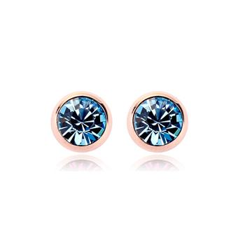 R.A crystal rose gold color earring 120344