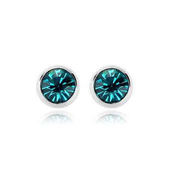 R.A crystal silver color earring 120344