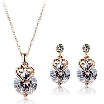 Italina zircon jewelry set 420064