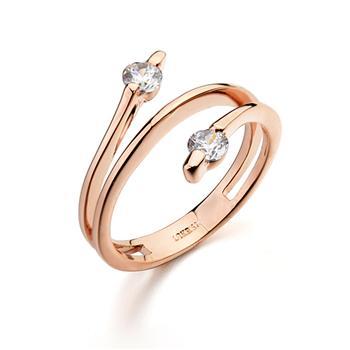Italina Rigant fashion zircon twinkle ring 111820