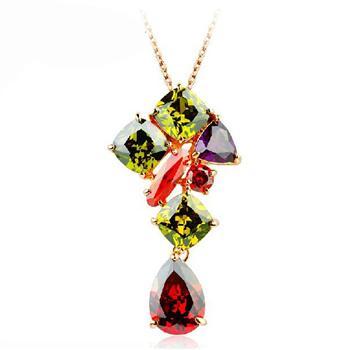 Allencoco zircon necklace  3070050036