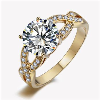Hot sale fashion zircon ring 10263036