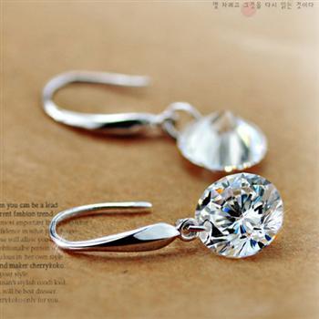 Fashion silver earrings E9905402