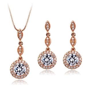 Italina zircon jewelry set 331328+321648