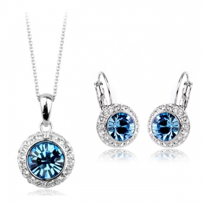 Fashion zircon jewelry set 331144+321001