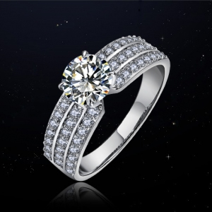 Hot sale fashion zircon wedding ring    10251