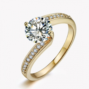 Hot sale fashion zircon ring    10244