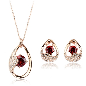 Italina zircon jewelry set 220471