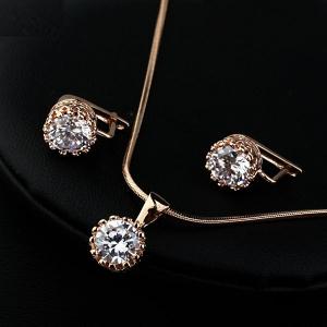 Fashion diamond jewelry set 134982+125419