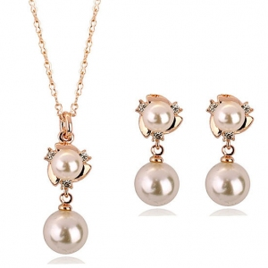 Fashion imitation pearl jewelry set 3305...