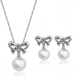 Fashion imitation pearl jewelry set 76791+83865
