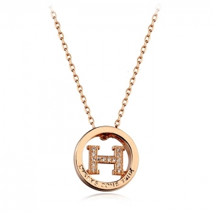 "Italina ""H""letter necklace 135209"