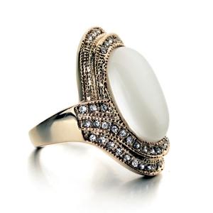 Italina latest Coffee Opal ring 115589