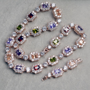Austrian crystal necklace 200852