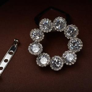R.A zircon brooch  1601380002