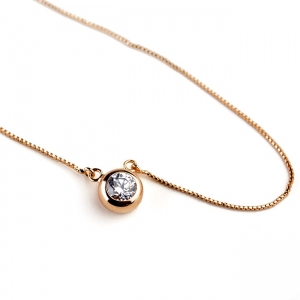 Rigant zircon necklace  061703
