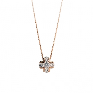 R.A zircon necklace  400495