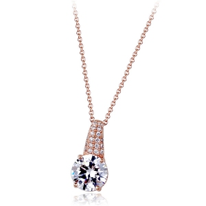 R.A zircon necklace 135053