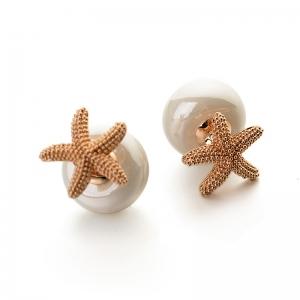 Rigant starfish pearl earring  087755