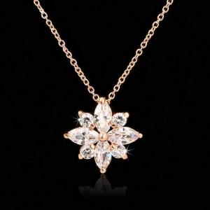 Red Apple zircon necklace 400496