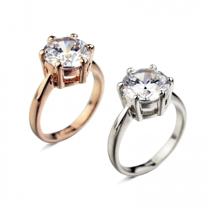 Rigant prong setting zircon ring  93324