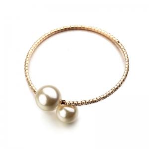 R.A 2 pearl open bracelet   180218