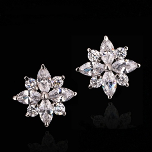 R.A Zircon Stud earring 3215480702