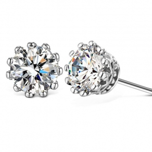 Fashion silver earrings 710802
