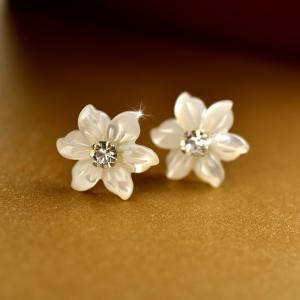 925 silver shell earring  010061