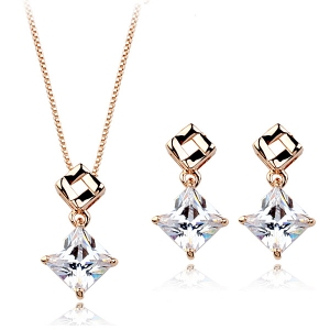 Italina zircon jewelry set  220750