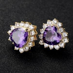 Allencoco zircon earring(gold)  208103036