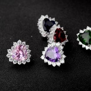 Allencoco zircon earring(silver)  208103002