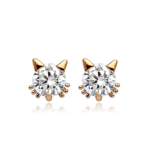 Rigant zircon cat earring  860570