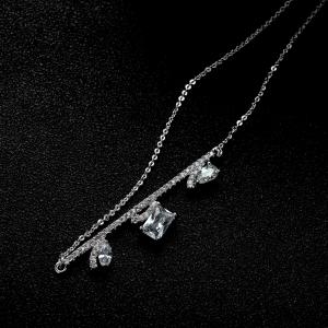 Allencoco zircon necklace  62096