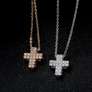 Allencoco cross necklace  77462