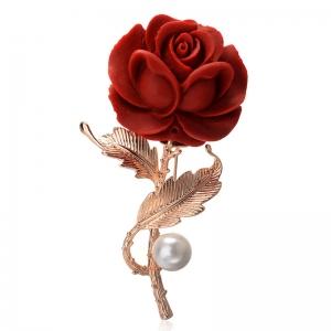 Rigant plastic flower brooch  537320