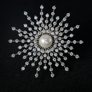 Rigant zircon sun brooch  850065