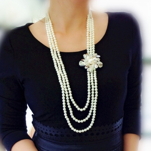 R.A pearl long necklace  3401860602