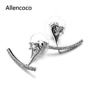 Allencoco  Zirconia Earrings  208122