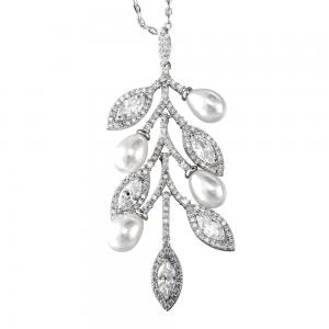 Allencoco pearl Branch necklace  3070087