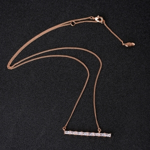 Allencoco zircon necklace  62122