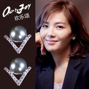Allencoco new pearl earrings  208230002