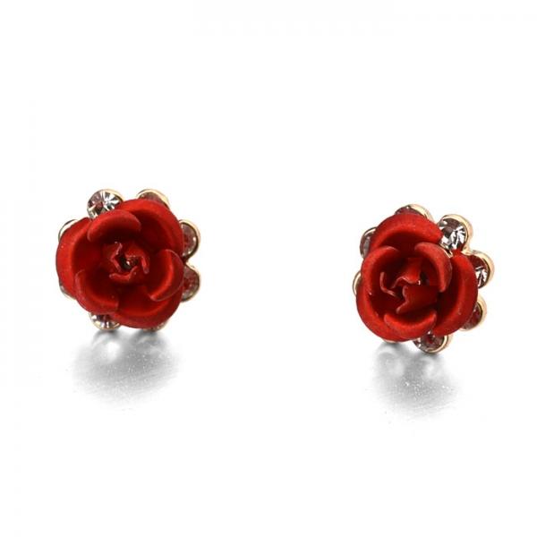 Rigant Diamond Roses Earrings 83709