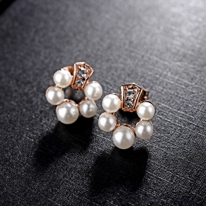 R.A Korean Fashion Diamond Stud Earrings...