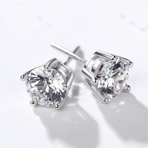 R.A Fashion simple 5 claw zircon earring...