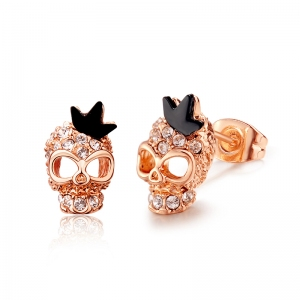 AllenCOCO Korean Crystal Skull Earrings ...