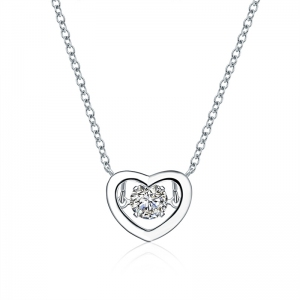 AllenCOCO Korean Heart Necklace 62132